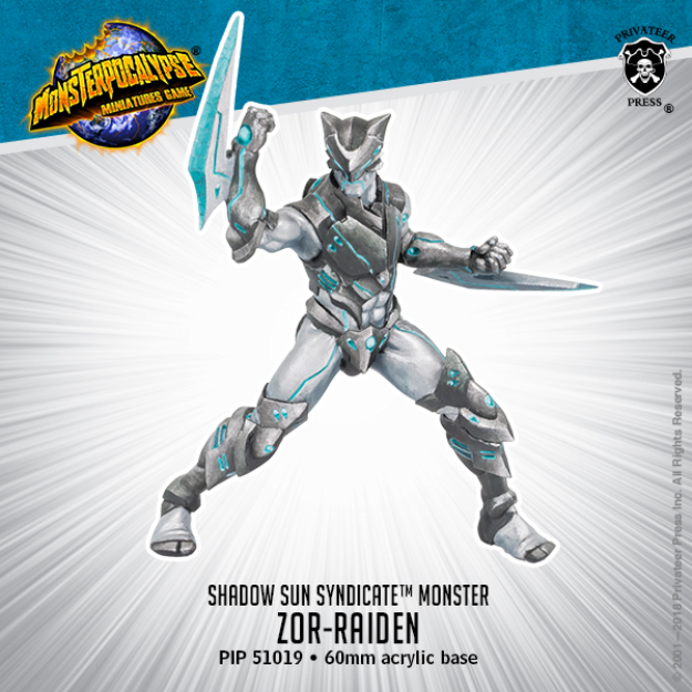 Monsterpocalypse: Zor-Raiden - Shadow Syndicate Monster (metal/resin)