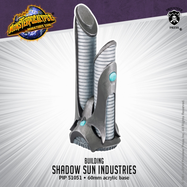 Monsterpocalypse: Buildings - Shadow Sun Industries (resin)
