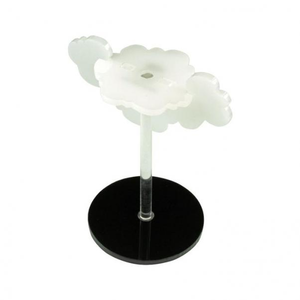 Flight Stands: Flying Cloud Character Mount with 2-inch Circle Base - Translucent White (1)
