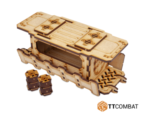 28mm Terrain: (Industrial Hive) Sector 2 - Middle Covered Walkway