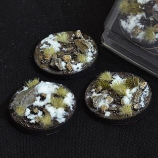 Battle Ready Bases: Winter Round 50mm (x3)