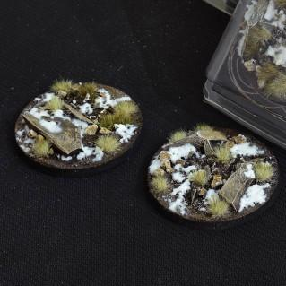 Battle Ready Bases: Winter Round 60mm (x2)
