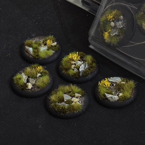 Battle Ready Bases: Highland Round Lip 40mm (x5)