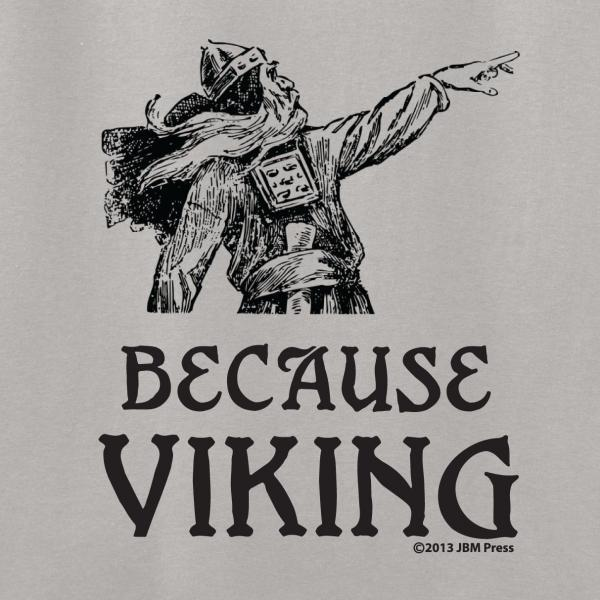Gamer Shirts: Because Viking (Medium)