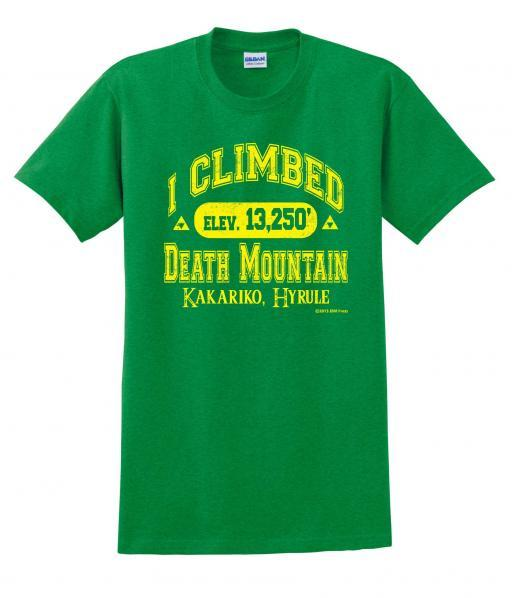 Gamer Shirts: I Climbed Death Mountain (Medium)