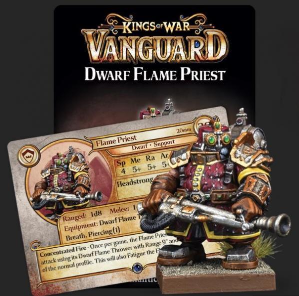 Kings Of War Vanguard: Dwarf Support Pack - Flame Priest