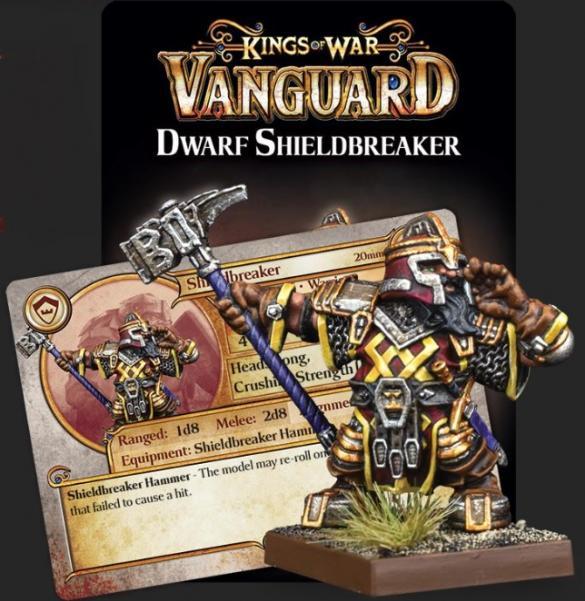 Kings Of War Vanguard: Dwarf Support Pack - Shieldbreaker