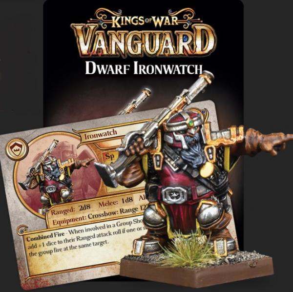 Kings Of War Vanguard: Dwarf Support Pack - Ironwatch