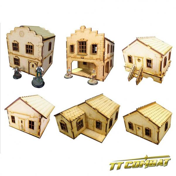 28mm Terrain: Old Town Scenics - 6 House Set