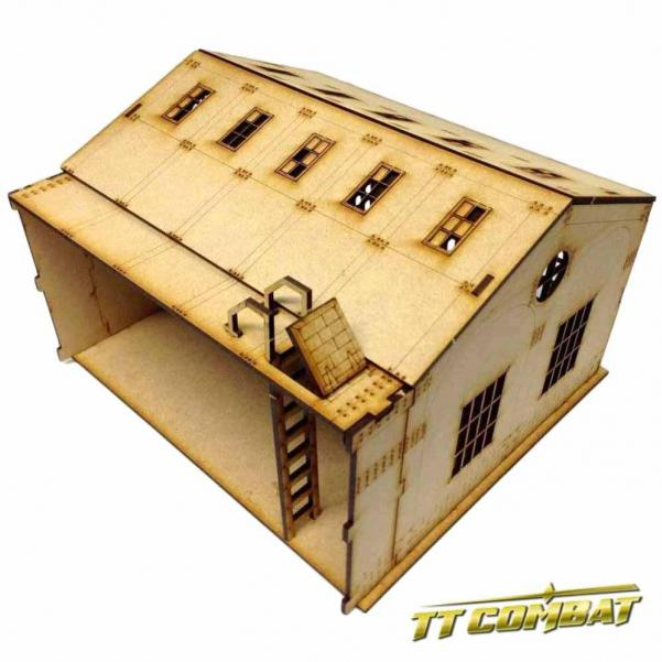 28mm Terrain: Old Town Scenics - Warehouse Extension