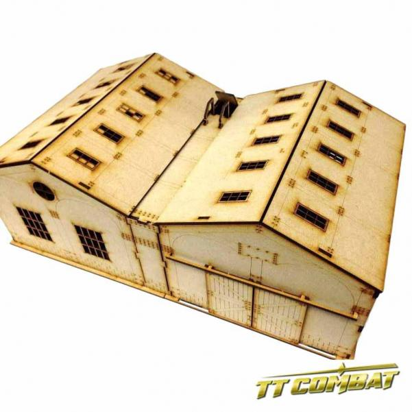 28mm Terrain: Old Town Scenics - Warehouse and Extension Set
