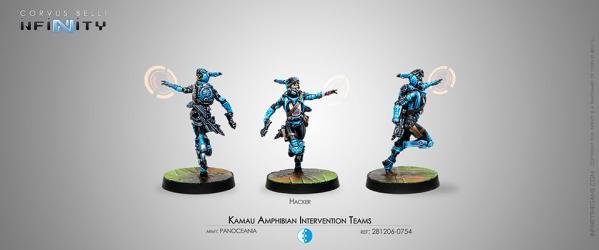 Infinity (#754) PanOceania: Kamau Amphibian Intervention Teams (HACKER) (1)