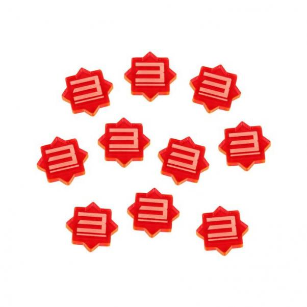 Forged Key: (Accessory) 3-Damage Tokens (Fluorescent Pink) (10)