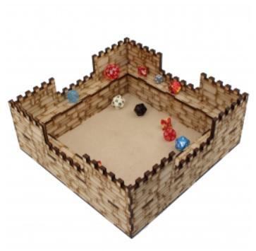 Laser Craft Workshop MDF Terrain: Dice tray (Castle)