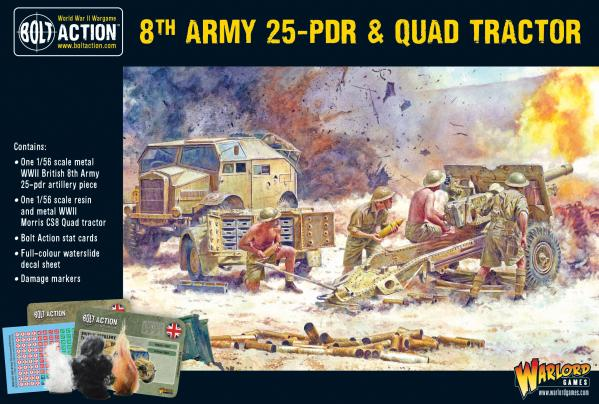 Bolt Action: 8th Army 25 Pounder, Quad and Limber