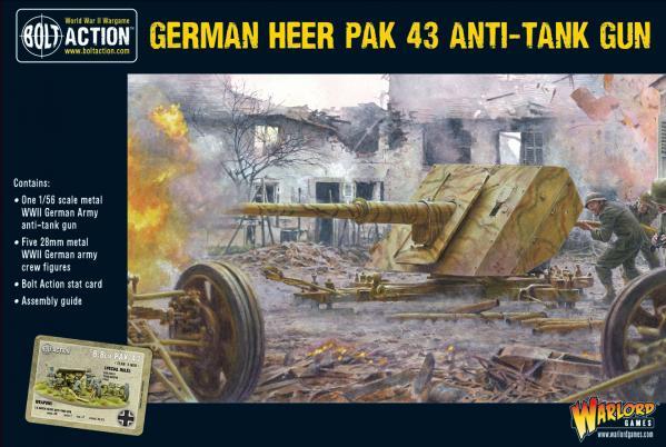 Bolt Action: German Heer Pak 43 anti-tank gun