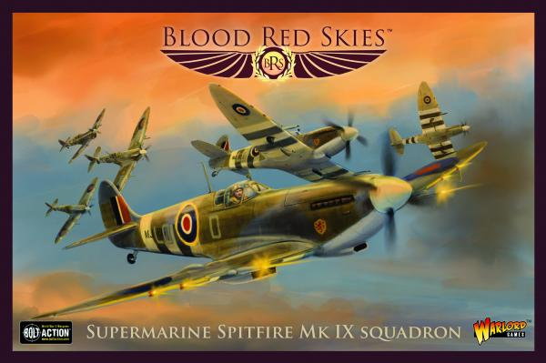 Blood Red Skies: Supermarine Spitfire MkIX Squadron (metal)