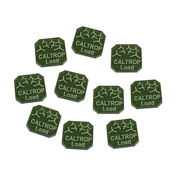 Gaslands: (Accessory) Caltrop Load Ammo Tokens, Translucent Grey (10)