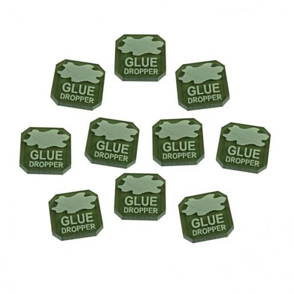 Gaslands: (Accessory) Glue Dropper Ammo Tokens, Translucent Grey (10)