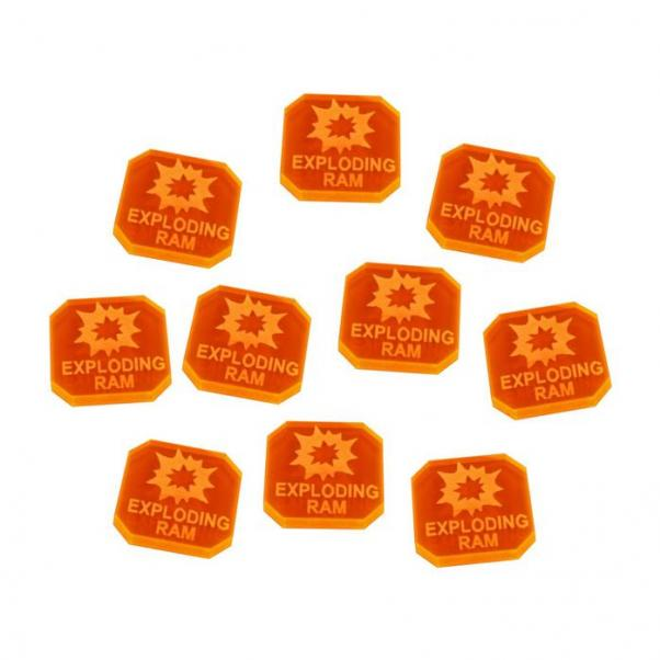 Gaslands: (Accessory) Exploding Ram Ammo Tokens, Fluorescent Orange (10)
