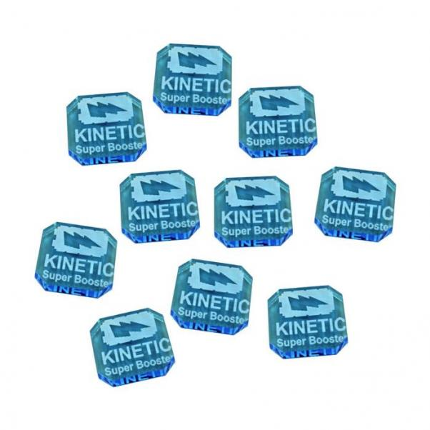 Gaslands: (Accessory) Kinetic Super Booster Ammo Tokens, Fluorescent Blue (10)
