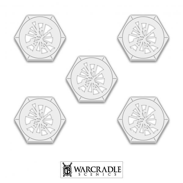 Miniature Accessories: Knightspire Shattered Glass Hex Token