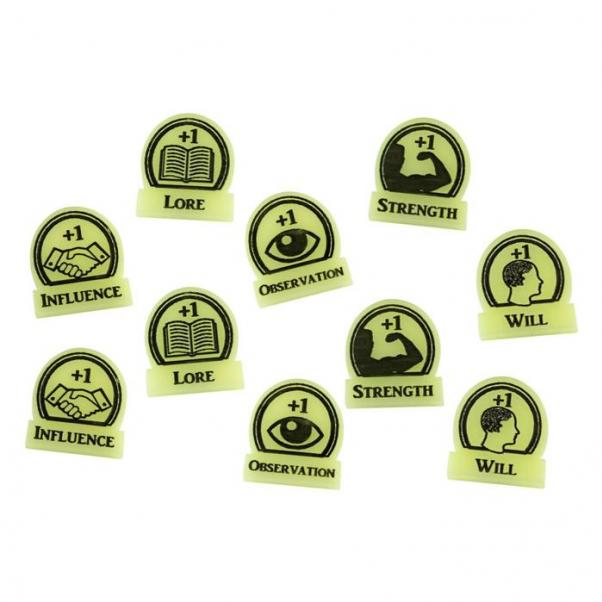 Arkham Horror: (Accessory) Skill Focus Token Set - Ivory (10)