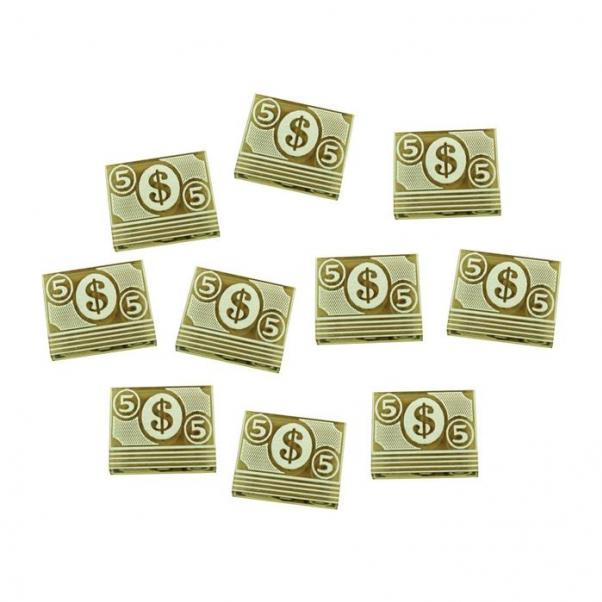 Arkham Horror: (Accessory) 5-Dollar Tokens - Transparent Bronze (10)