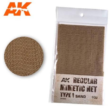 AK-Interactive: (Accessory) Camouflage Mimetic Net type 1 - Sand