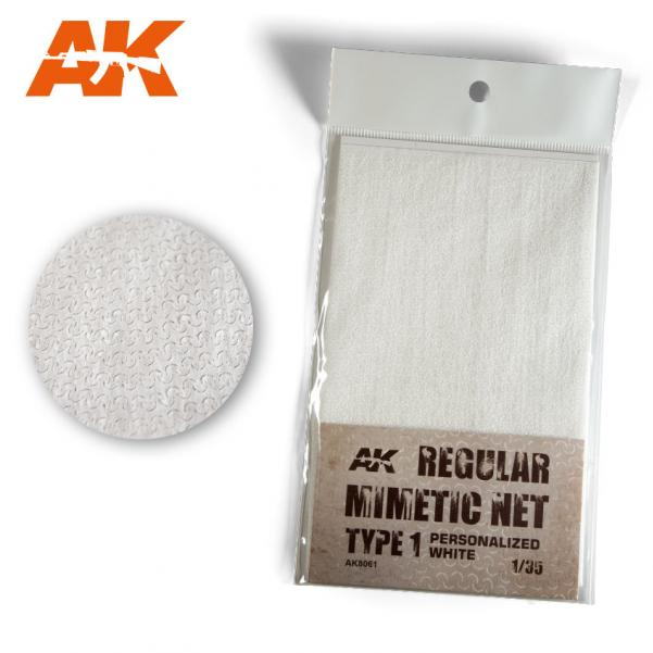 AK-Interactive: (Accessory) Camouflage Mimetic Net type 1 - Personalized White