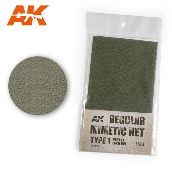 AK-Interactive: (Accessory) Camouflage Mimetic Net type 1 - Field Green