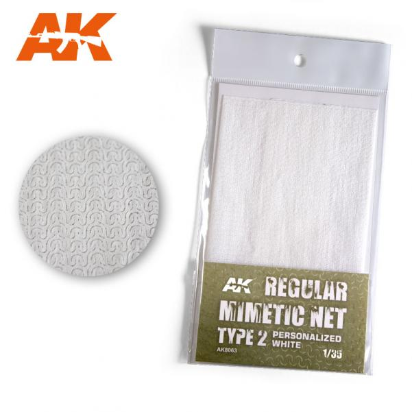 AK-Interactive: (Accessory) Camouflage Mimetic Net type 2 - Personalized White