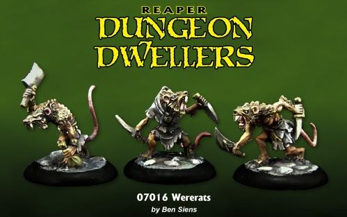 Reaper Dungeon Dwellers: Wererats (3)