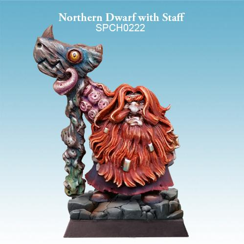 28mm Fantasy Miniatures: Northern Dwarf with Staff