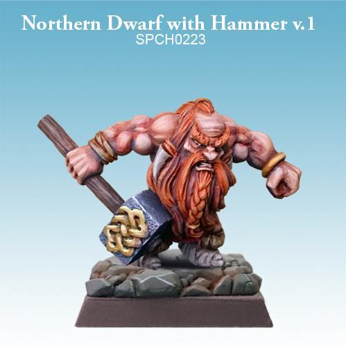 28mm Fantasy Miniatures: Northern Dwarf with Hammer (ver. 1)