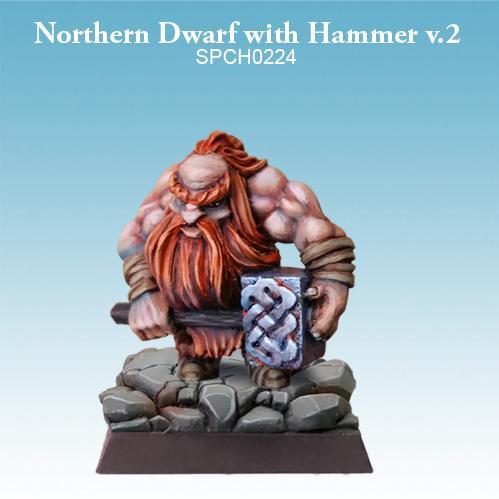 28mm Fantasy Miniatures: Northern Dwarf with Hammer (ver. 2)