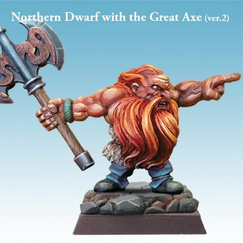 28mm Fantasy Miniatures: Northern Dwarf with the Great Axe (ver.2)