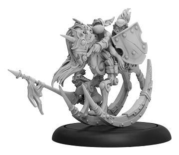 Hordes: (Grymkin) Neigh Slayer Warhorse – Grymkin Command Attachment (metal/resin)