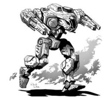 BattleTech Miniatures: Scarecrow UCU-F4 Mech - 40 Tons - TRO