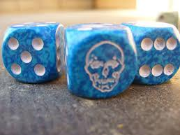 Special Icon Dice: Death Dice Black w/White spots