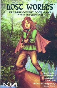 Roleplaying Accessories: Lost Worlds Fantasy Combat Books, Woman w/quarterstaff
