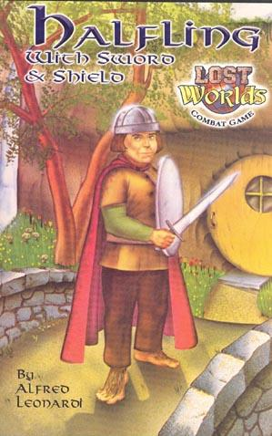 Roleplaying Accessories: Lost Worlds, Reprints, Halfling w/sword & shield