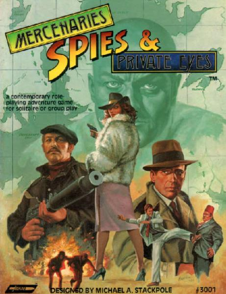 Roleplaying Accessories: Mercenaries Spies & Private Eyes Rulebook