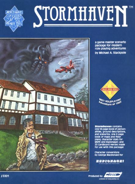 Mercenaries Spies & Private Eyes RPG: Stormhaven Adventure Pack