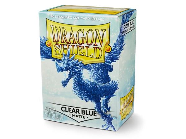 Dragon Shields: Matte Clear Blue Sleeves (100)
