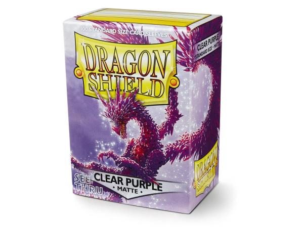 Dragon Shields: Matte Clear Purple Sleeves (100)
