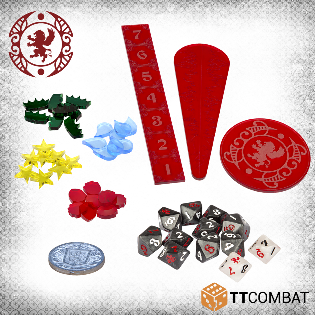 Carnevale: Gaming Accessories - Counters, Templates, Dice