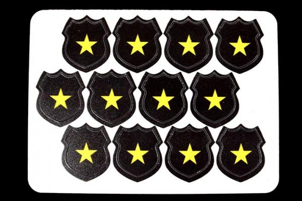 Game Accessories: Cops Hero Tokens (12)