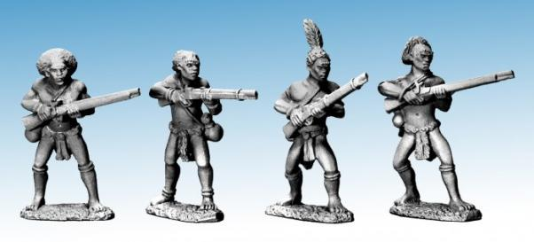 28mm Modern: Darkest Africa - Shilluk armed with Guns (4)