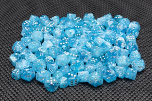 Chessex Dice Sets: Menagerie #10 - Luminary Sky (Day & Night) 16mm d6 Dice Block (12)